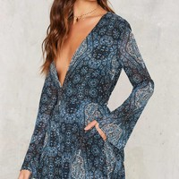 High Tide Plunging Romper