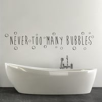 Bathroom bathtub Wall Decor Decal Word Art Quote Quotes Bubble Bath