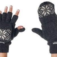 Amazon.com: Alki'i 3M Thinsulate Thermal Insulation Fingerless Texting Gloves with Mitten Cover - Grey: Clothing