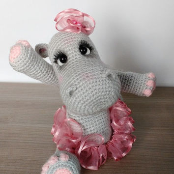 Elfin Thread- Happiness the Hippo Amigurumi PDF Pattern ( crochet hippo tutorial)
