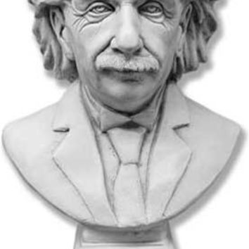 Albert Einstein Great Thinker Bust Portrait Statue Large 27H