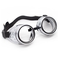 Chrome Cyber Goggles | Cyber Rave Burner Goggles at RaveReady