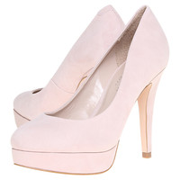 Buy Carvela Amelia Suede Platform Court Shoes, Pink online at John Lewis