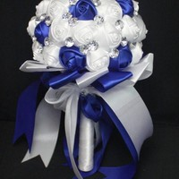 Handmade Wedding Bouquet Flower Crystal Pearl Silk Bride Hands Holding Rose Flower Wedding Bridal Bridesmaid Flower = 1929385412