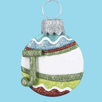 3 Christmas Ornaments - Monogram J