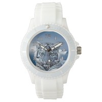 Tiger Women's Sporty White Silicon Watch