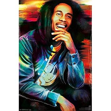 BOB MARLEY POSTER Amazing Pop Art RARE HOT NEW 22x34