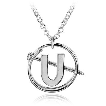 2017 Newest Ghostbusters Holtzmann's Screw U Necklace Pendant Cosplay & Halloween Costume the Silver Punk Necklace for Women
