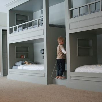 Styles for the Home / now thats an awesome way to do bunk beds!!