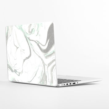 Pale Marble Laptop Skin