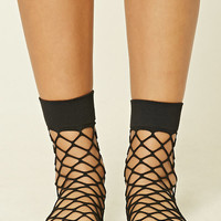 Fishnet Crew Socks