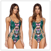 New Arrival Sexy Swimsuit Summer Beach Hot Women's Fashion Leaf Print Swimwear Bikini [4970313988]