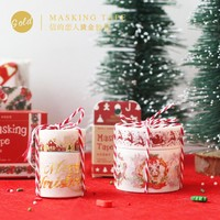 Gold Christmas Washi Tape Christmas Wreaths Masking Tapes Scrapbooking Bronzing Decorative Paper Tape Stickers Gifts Wraping