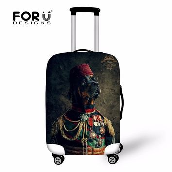FORUDESIGNS Travel Luggage Covers Protector 18-30 inch Case 3D Animal Dog Suitcase Cover Elastic Waterproof Luggage Accessories