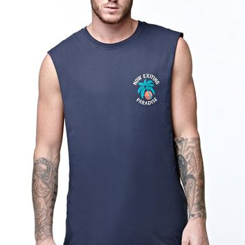 Vans Exiting Paradise Tank Top - Mens Tee - Blue