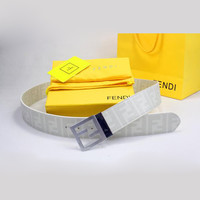 Perfect FENDI Woman Fashion Smooth Buckle Belt Leather Belt