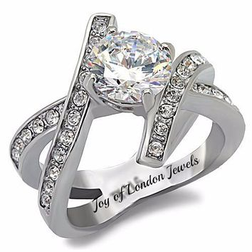 A Perfect 1.9CT Round Cut Russian Lab Diamond Ring