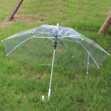 Clear Plastic Rain Umbrella PVC Rain Stopper Dome Bubble Rain Sun Shade Transparent Umbrellas