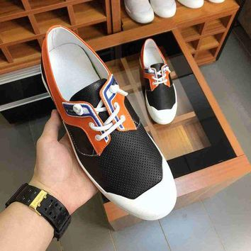 DCCK Prada  Men Casual Shoes Boots fashionable casual leather