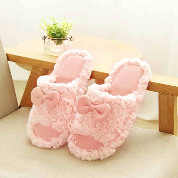 SIKETU  Summer Slip Heavy-Bottomed Cute Cartoon Wooden Floor Home Indoor Shoes,Women Slippers At Home Spring