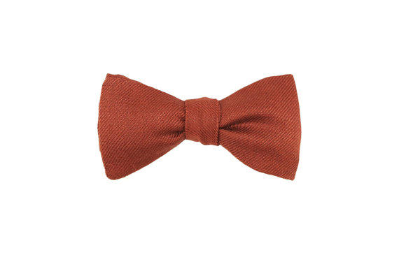 rust bow tie brown bow tie copper bow from puriboutique on etsy