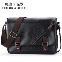 Men Messenger Bags, Retro Fashion Men's Crossbody Bag Designer Handbags,Casual Black Leather Student Bag Man