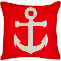 Outdoor Anchor Pillow in Lava design by Thomas Paul