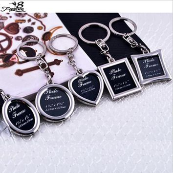 Keychain 1PC Metal Insert Photo Picture Frame