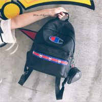 Champion of the two pieces of Champion nylon backpack