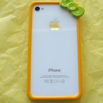 Hello Kitty Iphone 4 4s Bumper Cool Yellow