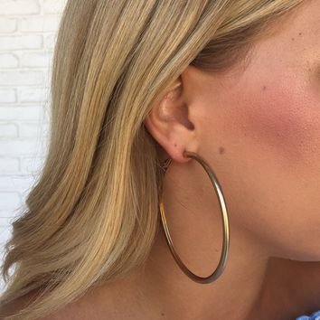 Good Times Hoop Earrings In Gold