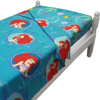 10 Little Mermaid Twin Bed Size Sheet Sets Disney Princess of the Waves Bedding Accessories