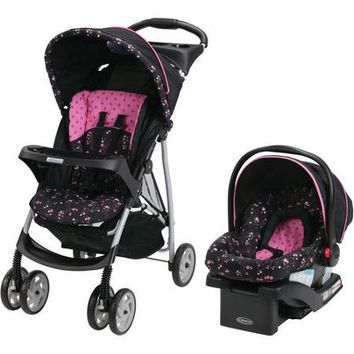 Graco Priscilla Comfy Cruiser Click Connect Travel System with BONUS Diaper Bag - Walmart.com