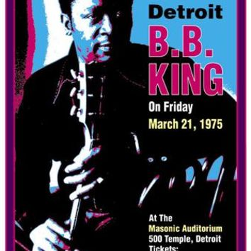 B.B. King Masonic Auditorium Detroit 1974 Dennis Loren Art Print