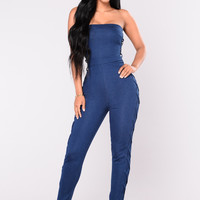 Everything Is Yours Jumpsuit - Denim