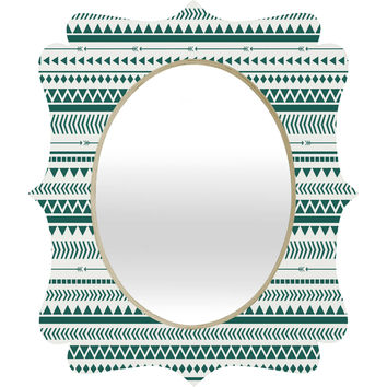Allyson Johnson Teal Aztec Quatrefoil Mirror