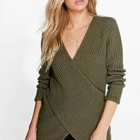 Faye Cross Front V-Neck Jumper
