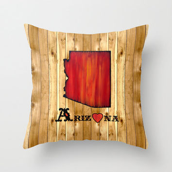 Arizona Pillow Cover, state throw pillow, Arizona state love, home state, accent pillow,  Arizona decor, rustic decor, country western decor