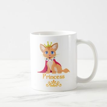 Princess Kitten Coffee Mug
