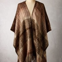 Blanketweave Poncho by Anthropologie Brown One Size Sweaters
