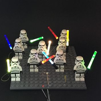 1pcs LED light lightsaber for lego figure Toys for Star Wars The Force Awakens Nano Light Up Set