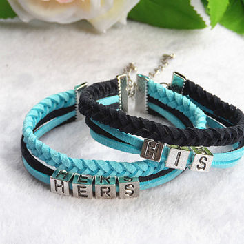 Couples Bracelets Set, His and Hers Bracelets,Date Bracelet,Anchor Bracelet, Anniversary Gifts,Lovers Bracelet, Bridesmaid Jewelry,Gift Box