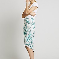 Womens Havana Print Wrap Skirt