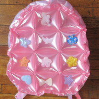90s Raver Kawaii Inflatable Bubble PVC Plastic Transparent Clear Backpack Bag