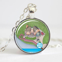 Haunted Mansion Necklace from Walt Disney World Magic Kingdom Park Map