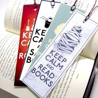 Set of 4 Keep Calm Poster Bookmarks You pick which 4 you want