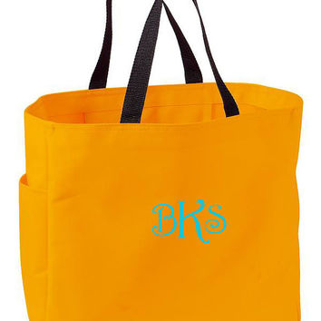 Monogrammed Tote Bags Wedding Party Gifts Maid Of Honor, Bridesmaid, Mother of the Bride, Mother of the Groom