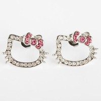Hello Kitty Outline Earrings: Petit Pink Bow