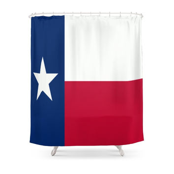 Society6 Lone Star ? Texas State Flag Shower Curtain