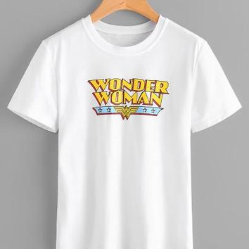 Wonder Woman printed tshirt